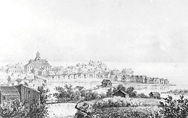 1800-luvun alun Oulua.