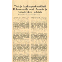 Tietoja koskenperkaustöistä Pohjanmaalla sekä Ämmä- ja Koivukosken suluista.pdf