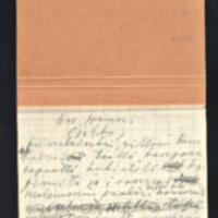 Kiinalaiset jutut. Osa käsikirjoituksesta touko-heinäkuu 1954