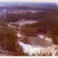 Orimattilaa ilmasta käsin kuvattuna 1970-luvulla