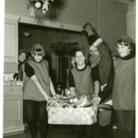 Joulujuhla Orimattilan kotitalousopistossa 1960-luvulla