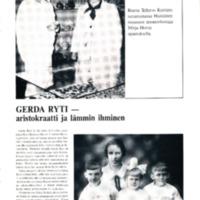 Gerda Ryti - aristokraatti ja lämmin ihminen