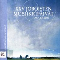 Joroisten musiikkipäivien käsiohjelma 2002