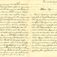 Julia Kyreniuksen kirje tyttärelleen Olgalle