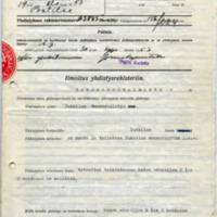 Pukkilan Museoyhdistyksen perustamisasiakirjat ja palovakuutuskirja