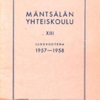 Mäntsälän yhteiskoulu XIII lukuvuotena 1957-1958