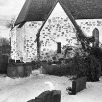 Kaatunut kuusi kirkkomaalla