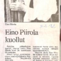 Kanttori Eino Piirola