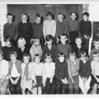 Paaslahden kansakoululaisia vuonna 1966