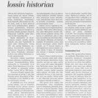 Matosalmen lossin historiaa