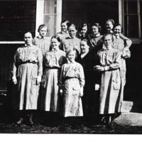 Hamulan reippaita lottia n. 1934