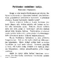 Pyhäkosken ensimäinen laskija: kansantaru Pohjanmaalta
