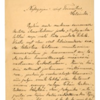 Santeri Alkion kirje Nykyaika-lehden toimitukselle