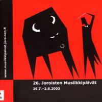 Joroisten musiikkipäivien käsiohjelma 2003