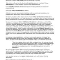 Raportti Eino Leinoa koskevasta Vaasan kaupunginkirjaston materiaalista