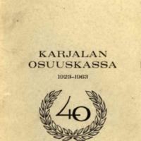Karjalan osuuskassa 1923-1963