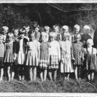 Paaslahden kansakoululaisia vuonna 1961