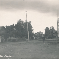 Lauttakylän keskustaa 1920-luvulla