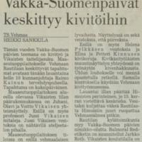 Vakka-Suomen päivät keskittyy kivitöihin