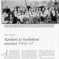 Kouluni ja koulutieni vuosina 1952-57
