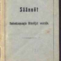 Säännöt Uudenkaupungin Urheilijat seuralle : Stadgar för Nystads Sportmannaförening
