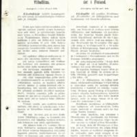 Suomen koulutoimen ylihallituksen kiertokirjeitä ja Turun piirin kansakoulujen tarkastajan lausuntoja Paimion emäntäkoululle 1897-1917