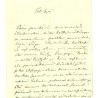 Kasimir Leinon kirje Olga Kyreniukselle