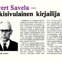 Evert Savela - jokisivulainen kirjailija