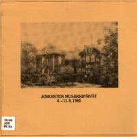 Joroisten musiikkipäivien käsiohjelma 1985