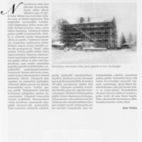 Muistoja 1949-1950 vuodenvaihteen rakennustavasta