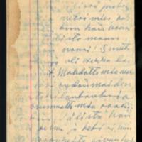 Novellien luonnoksia elokuu 1950<br /> Apuraha-anomus elokuu 1950