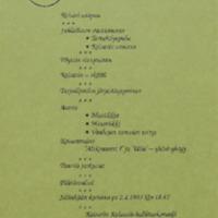 Keisarin Kalaasit : Käsiohjelma ja menu