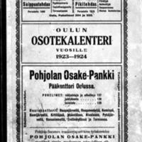 Oulun osotekalenteri vuosille 1923-1924