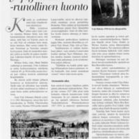 Yrjö Hakala- runollinen luonto