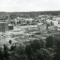 Orimattila nähtynä kirkontornista 1970-luvulla