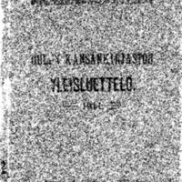 Oulun kansankirjaston yleisluettelo 1911