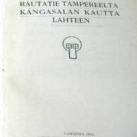 Rautatie Tampereelta Kangasalan kautta Lahteen