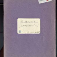 Novelleja.  Käsikirjoituksia toukokuu 1946<br /> Kauneuden Kirous. Osa käsikirjoituksesta vuodelta 1946