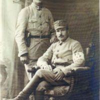 Eino Heljo sotilasasussa 1918