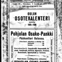 Oulun osotekalenteri vuosille 1925-1926