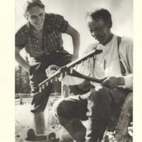 Taavetti Huttunen ja Kalervo Hortamo n. 1948-50