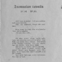 Tuomaalan tuwalla 7.8.1884-7.8.1909