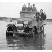 Tulva Myllyn sillalla vuonna 1935