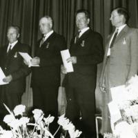 Orimattilan palokuntalaisia palkinnon saajina 1960-luvulla
