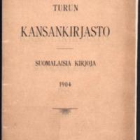 Turun kansankirjasto. Suomalaisia kirjoja 1904