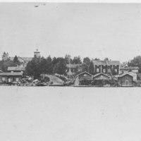 Näkymä Nilakalta kirkolle 1911