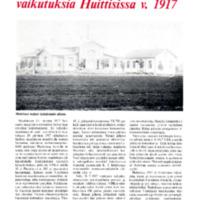Venäjän vallankumouksen vaikutuksia Huittisissa v.1917