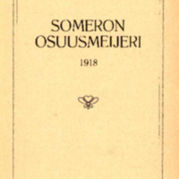 Someron osuusmeijeri 1918