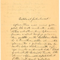 Oskar Lönnbohmin kirje sukulaisille