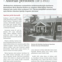 Maria Raunio : Astorian perhonen (1872-1911)